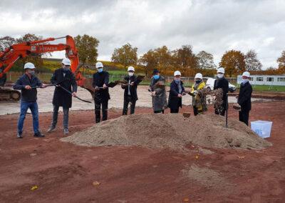 Neubau Pfrimmtalschule, Spatenstich am 28.10.2020