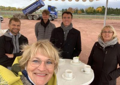 Neubau Pfrimmtalschule, Vorfreude im Kreise der Schulleitung