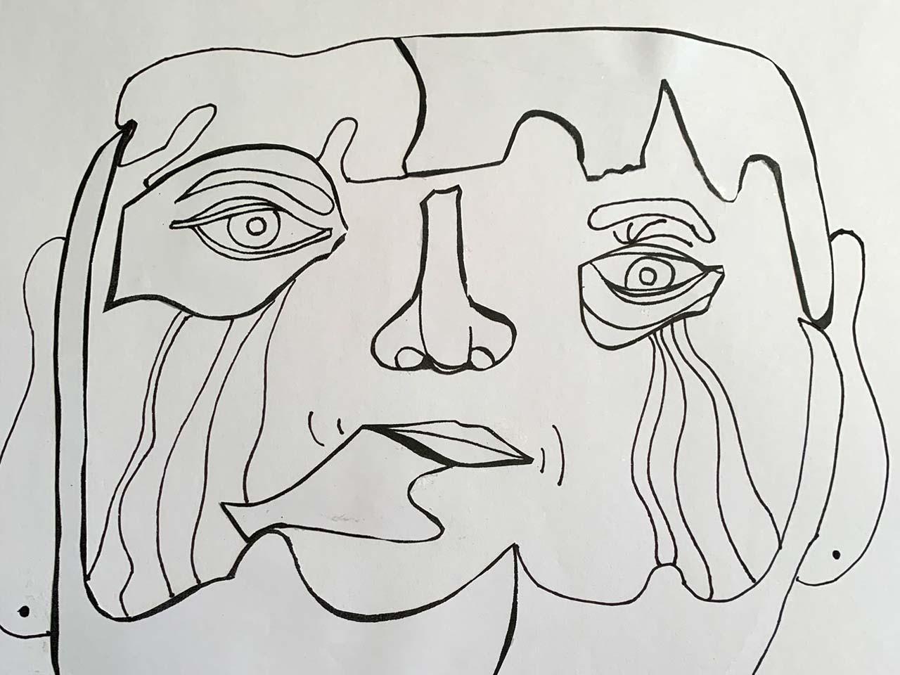 Stilistisches Porträt, Schülerarbeit