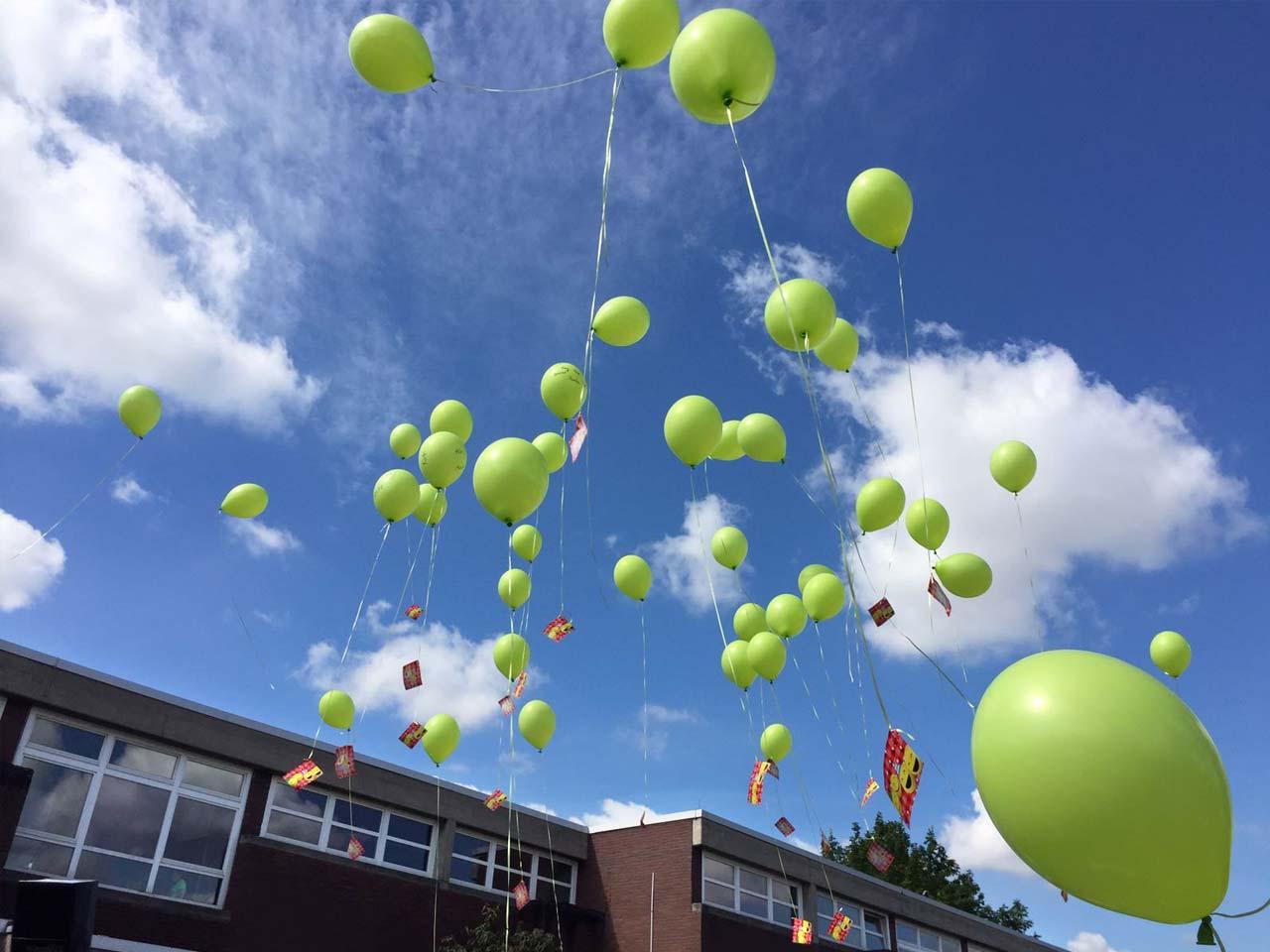 Luftballon-Wettbewerb, Pfrimmtal Schule