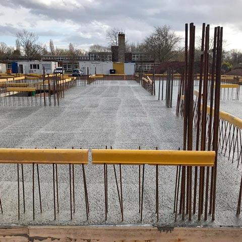 Impressionen vom Neubau im März 2021