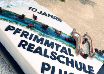 Torte zum 10-jährigen Bestehen der Pfrimmtal-Realschule plus